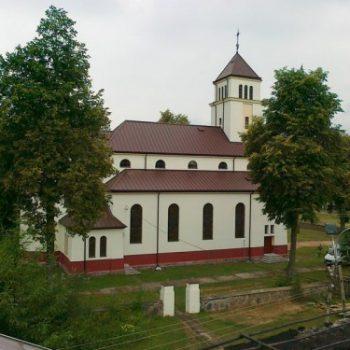 Chlebiotki - widok z dachu plebanii
