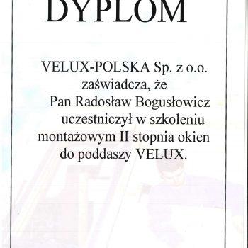Dyplom Velux Polska